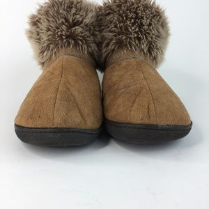 Isotoner Shoes - ISOTONER Fur Booties Tan MicroSuede 8.5 - 9